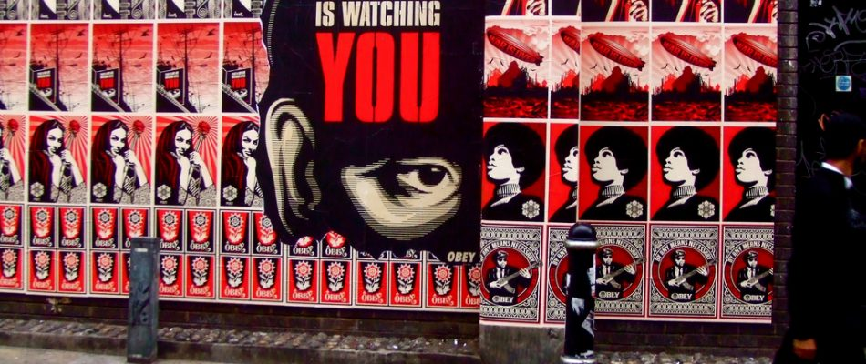 Picture 'Shepard Fairey in London: Big Brother Is Watching YOU' by Tim Rich and Lesley Katon, CC BY-NC-ND 2.0.